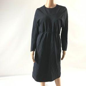 COS Women's Dress Long Sleeve Elastic Waist Navy